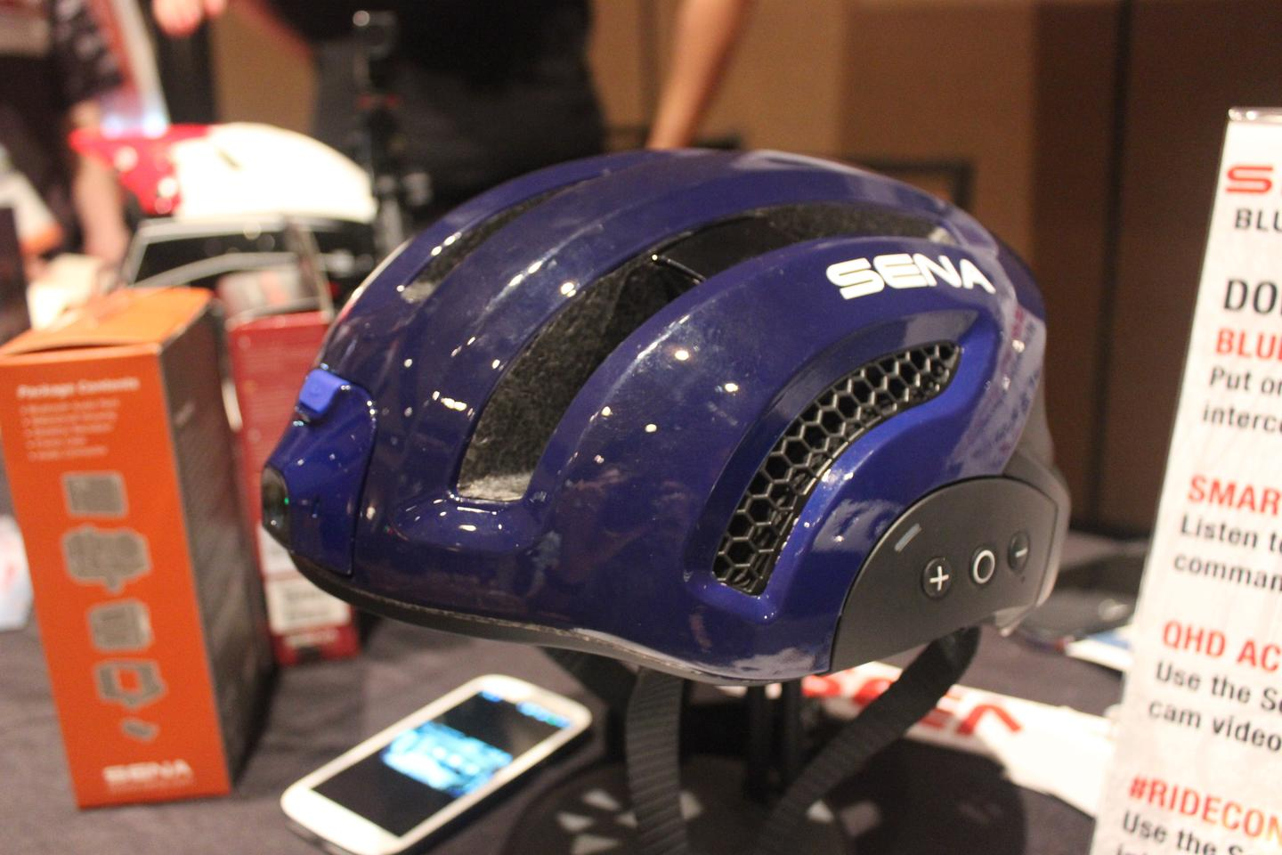 Sena unveiled the Smart Helmet at Interbike this week