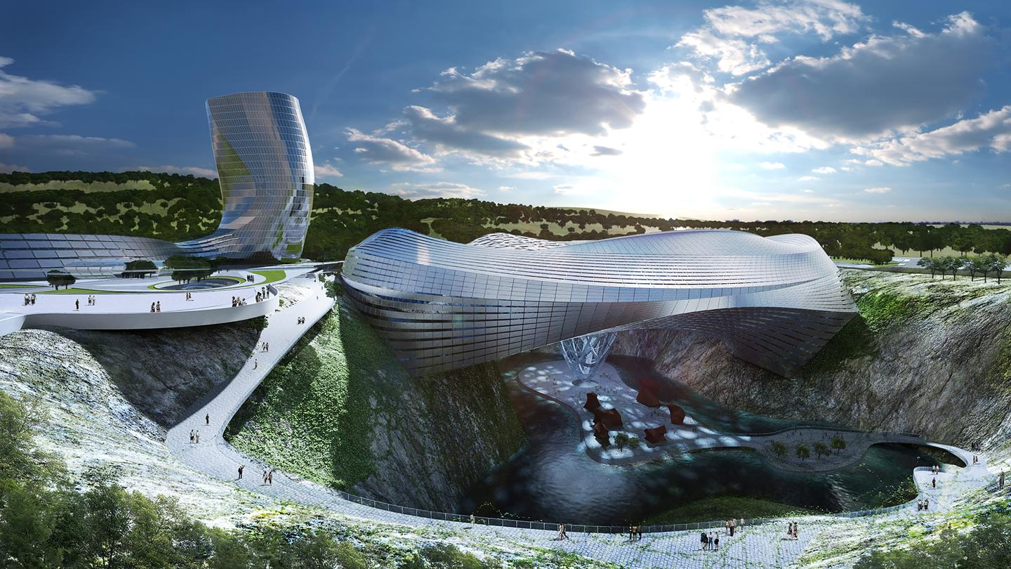 Coop Himmelb(l)au's winning design for the Dawang Mountain Resort Area near Changsha, China (Image: Coop Himmelb(l)au)