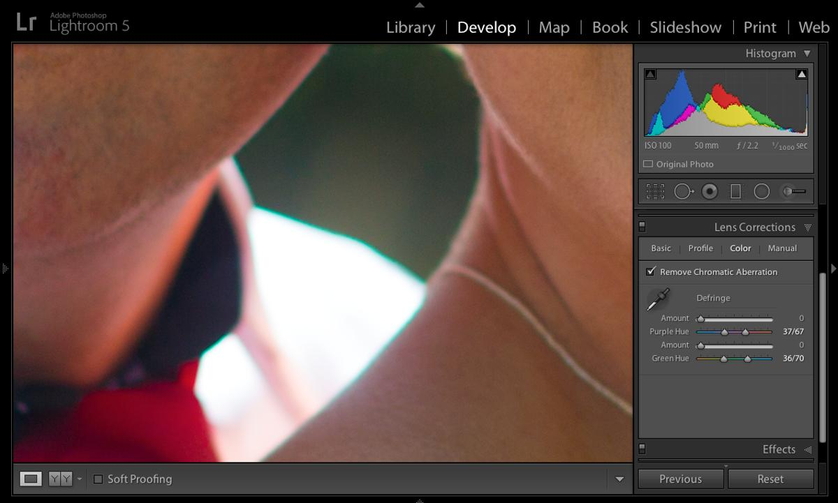 How to remove chromatic aberration in Adobe Lightroom 5