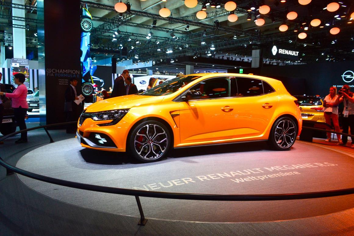 Renault Megane R.S. at the 2017 Frankfurt Motor Show