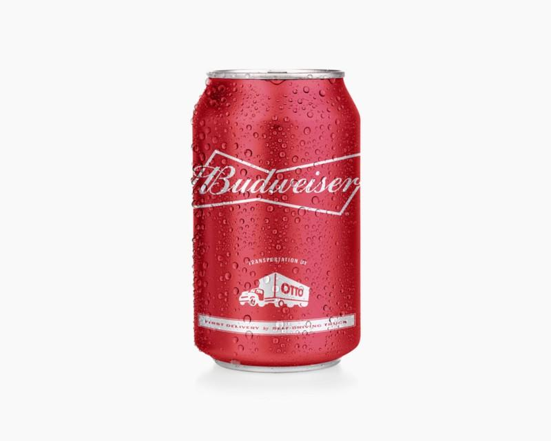 The cans of Budweiser delivered by Otto have a special mark on them
