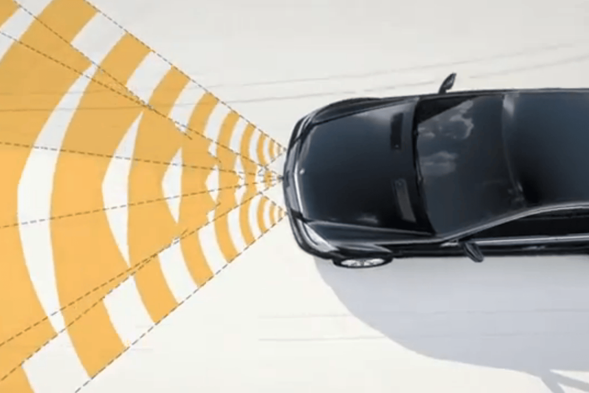 The Mercedes-Benz BAS PLUS system, which is part of the company's new Intelligent Drive System