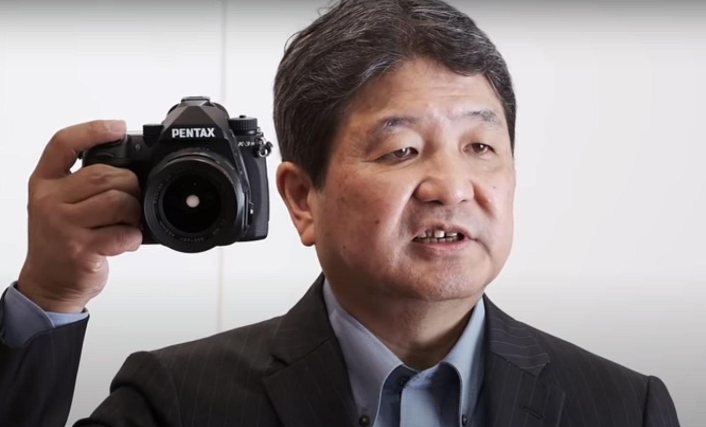 Ricoh Imaging's president Shinobu Takahashi has revealed that the company's upcoming APS-C DSLR flagship is named the Pentax K-3 Mark III