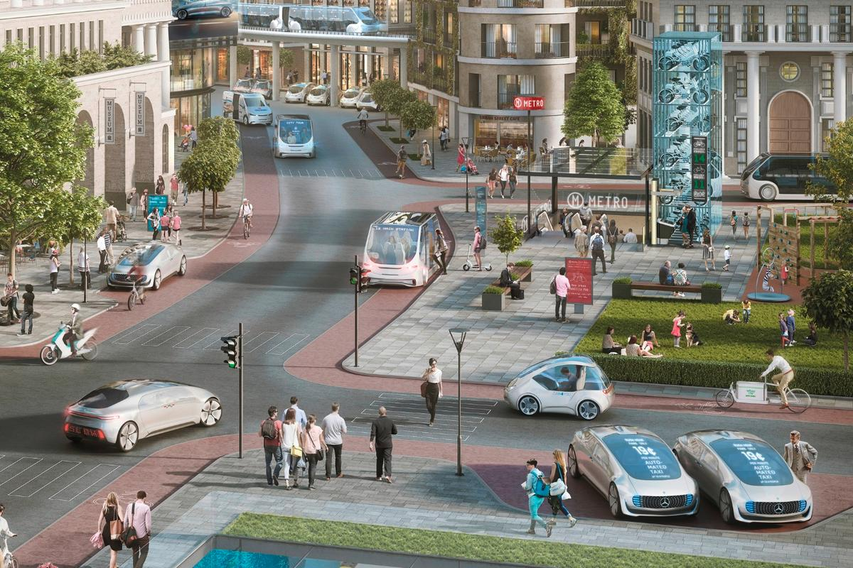 Daimler imagines a future where the vehicle comes to the driver, and not the other way around