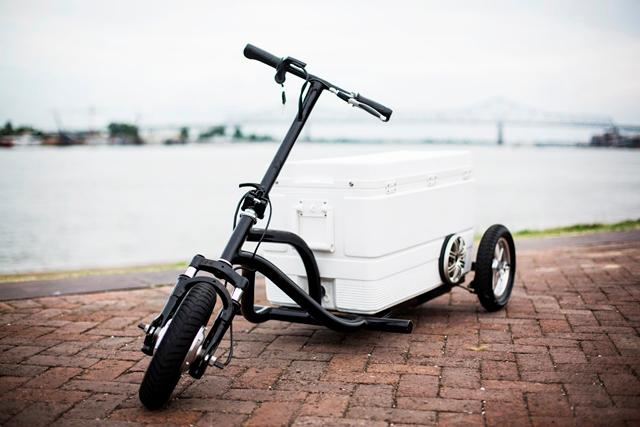 The Kreweser is a motorized cooler