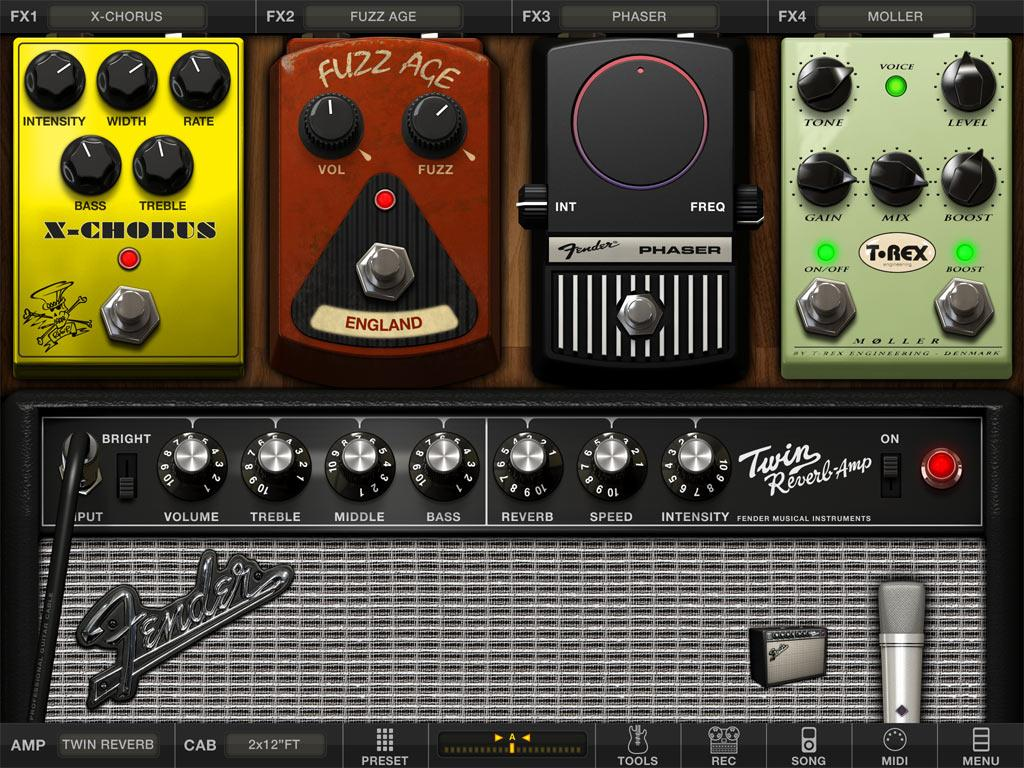 The iRig HD is compatible with third-party music creation applications like Apple's GarageBand, but IK Multimedia has its own suite called AmpliTube