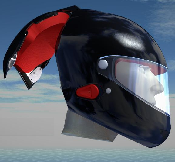 The Voztec helmet has a detachable back section, for easy removal in the event of an accident