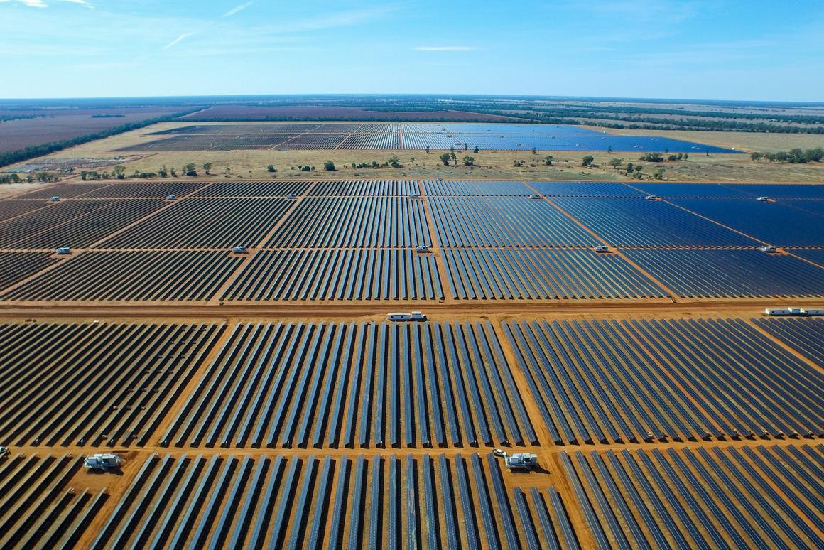 Together, the Nyngan (pictured) and Broken Hill plants will produce around 360,000 MWh of renewable energy annually