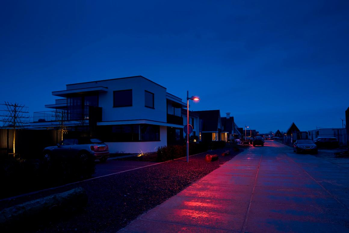 The lights have been installed in a sustainable housing development