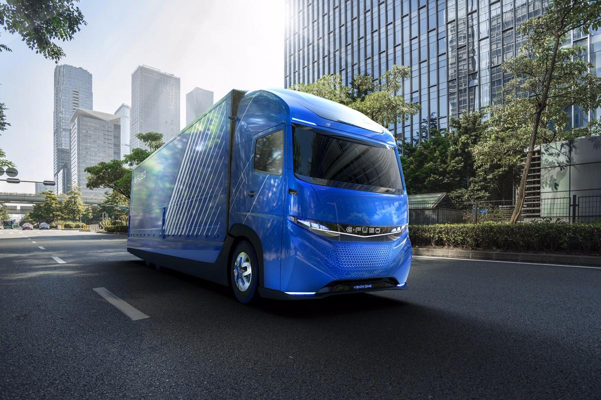 The E-Fuso Vision One concept represents the top of the company's plans for electrification of its vehicles