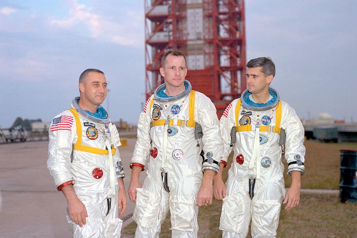 Grissom, White, and Chaffee were to be the first Apollo crew