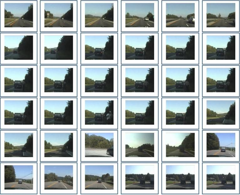 Screenshots from a lengthy raw video are selected by the LiveLight algorithm (Image: Carnegie Mellon University)