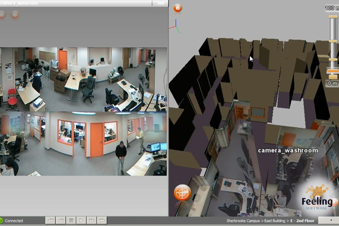 The Omnipresence 3D Security System using ImmerVision's 360 degree Panomorph lens