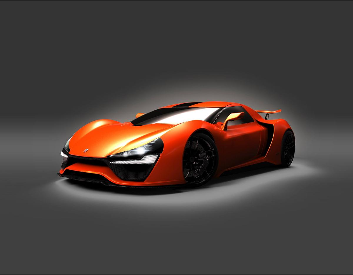 The Nemesis reminds us of the McLaren P1, especially when painted in orange