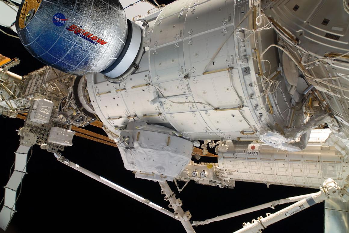 The Bigelow BEAM installed onto the ISS (Photo: NASA/Bigelow)