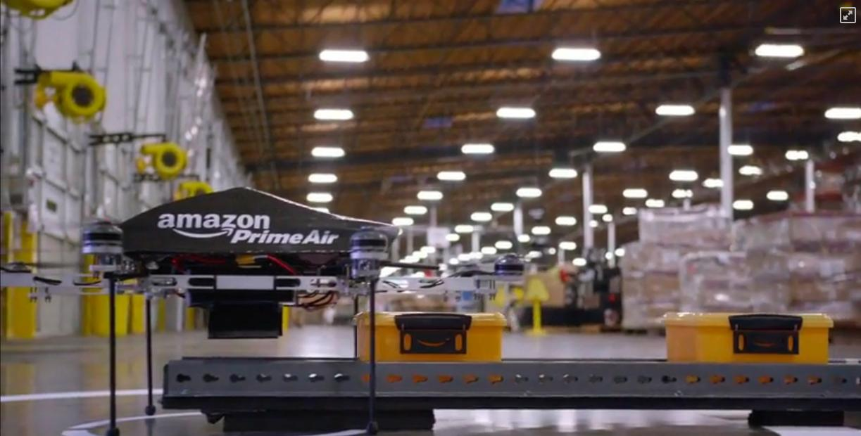 Stymied by US regulations, Amazon has been testing its delivery drones at a Canadian location
