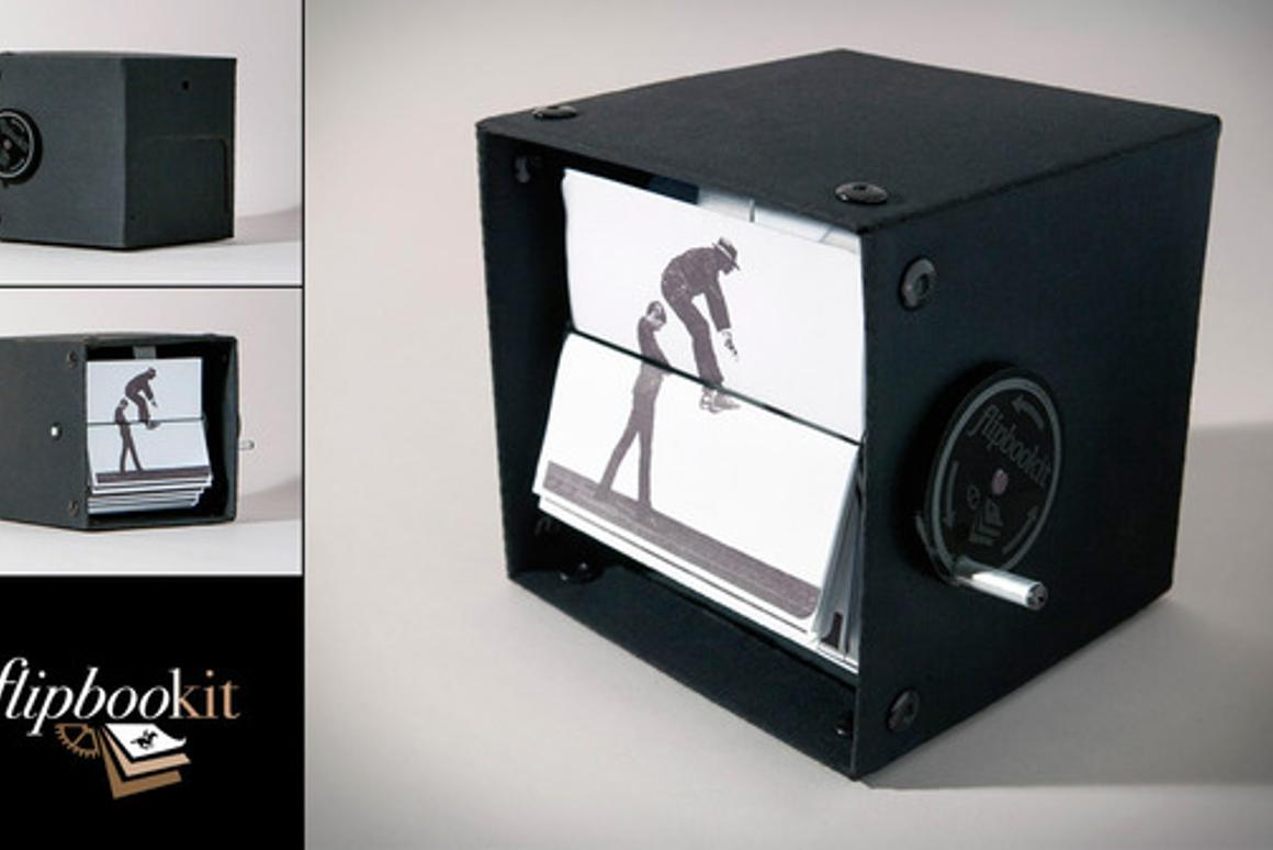 "The image of a prototype of the FlipBooKit, which designer and ""maker of things"" Wendy Marvel and Mark Rosel are launching through a Kickstarter campaign"