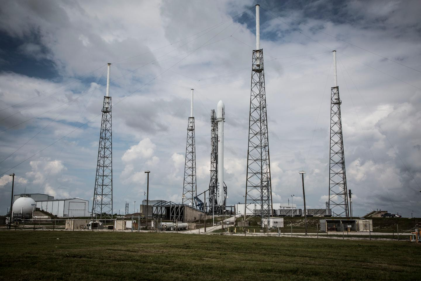 Falcon 9 on the launch pad