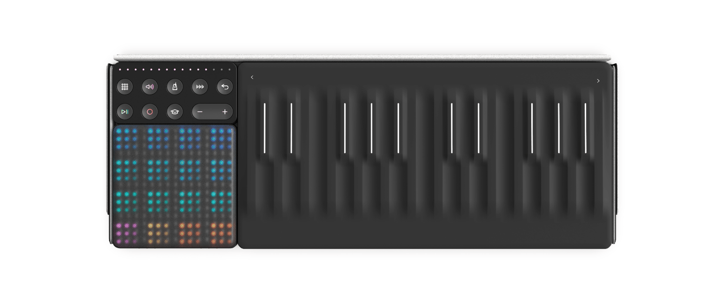 The Songmaker Kit brings together three of Roli's touch-enabled music makers – the Seaboard Block, the Lightpad and the Loop