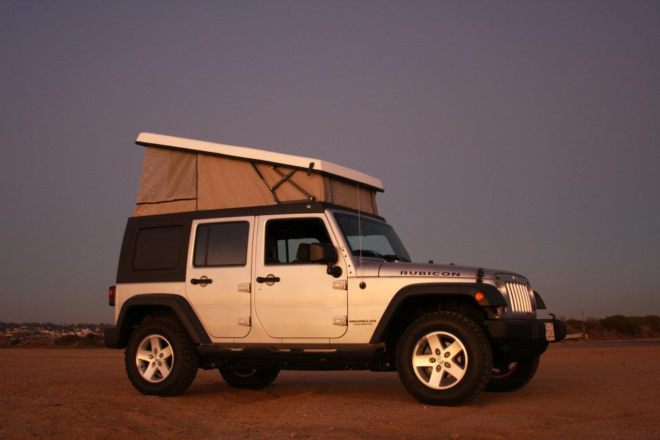 The J30 kit is a replacement roof with integrated pop-up tent