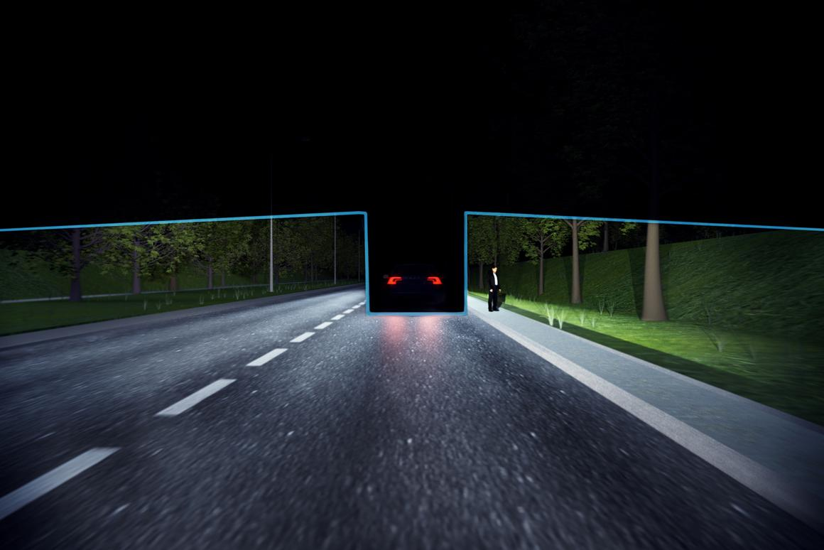 Volvo's Active High Beam Control selectively shields other cars from dazzling high-beams