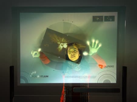 The Displax multi-touch skin detects both touch and breath