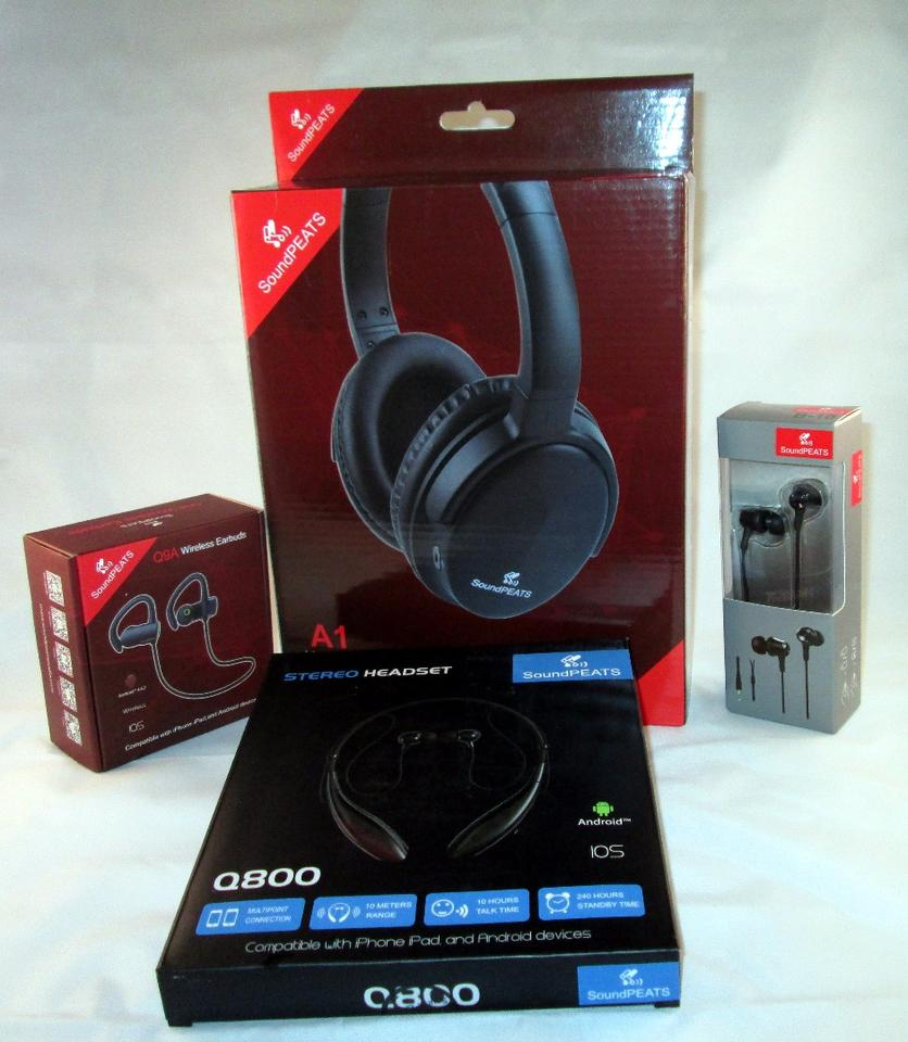 The Sounpeats line includes wireless and wired headsets