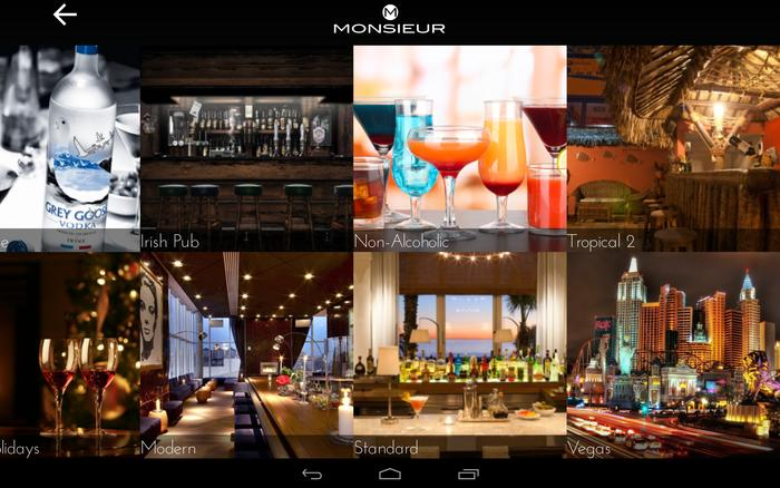 Monsieur comes with a selection of bar themes