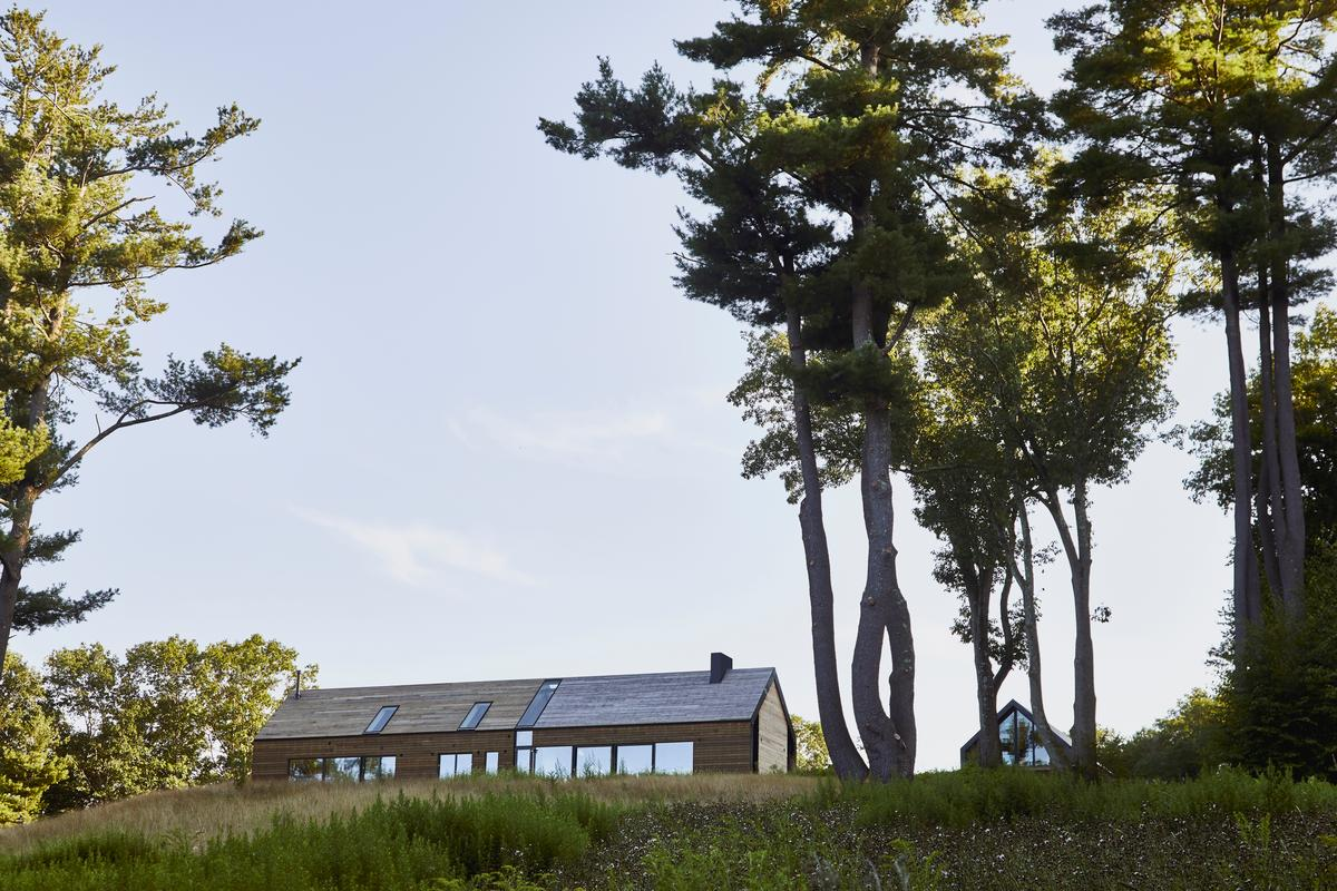The 5,000 sq ft (465 sq m) Mountain House is spread across three levels