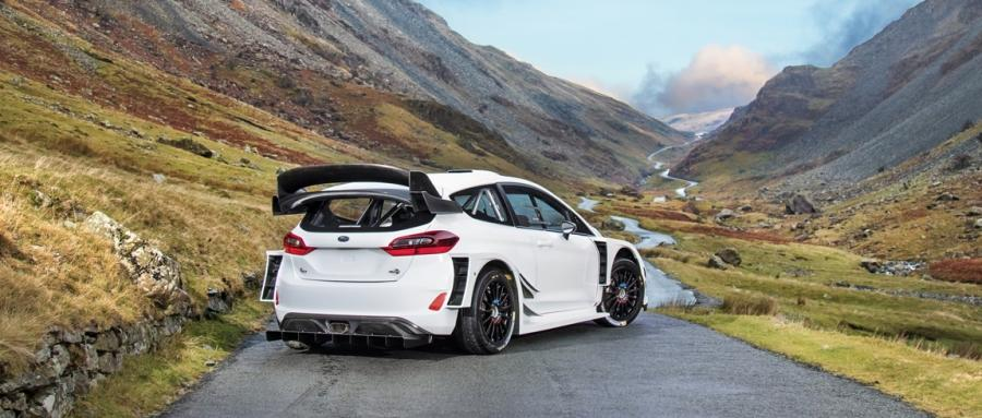 The new Ford Fiesta RS WRC is wider and more powerful than before