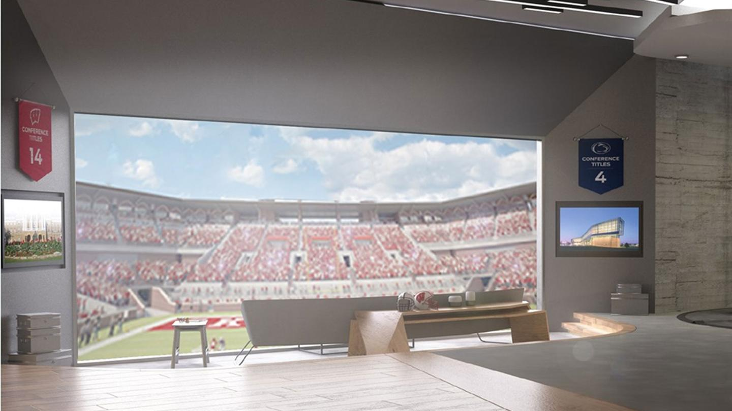Fox Sports VR offers a virtual viewing suite for sporting events