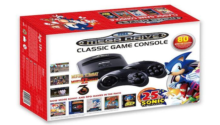 Sega fans can celebrate Sonic the Hedgehog's 25th anniversary with a new version of the classic Sega Mega Drive (or Genesis) console, preloaded with 80 games