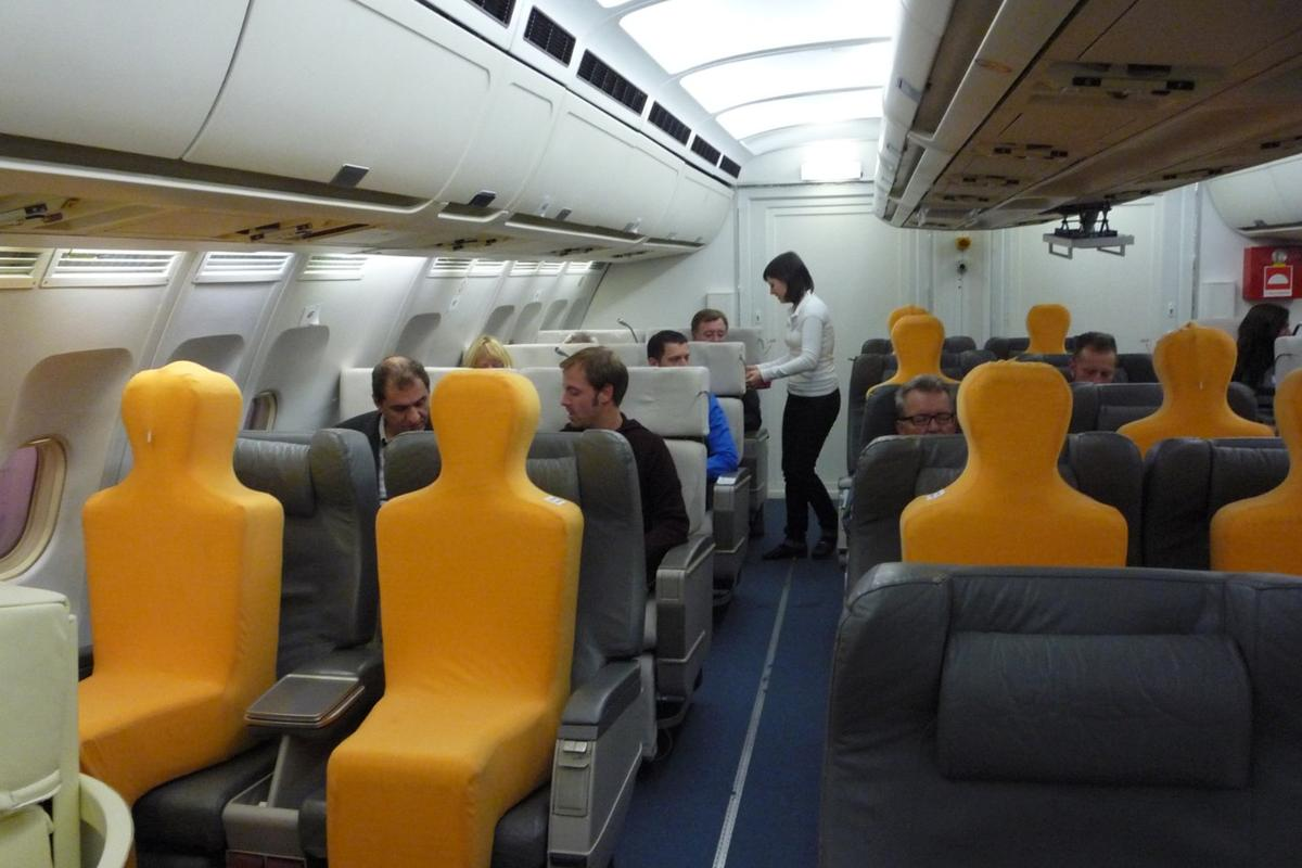 The personal climate control seats were tested in the front end of an Airbus A310 (Image: Fraunhofer IBP)