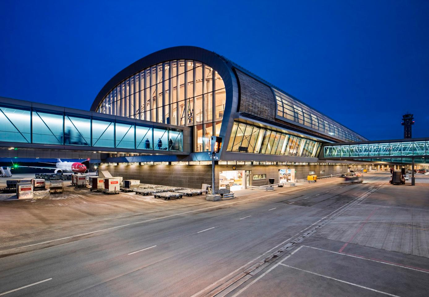 Nordic –Office of Architecturedesigned Oslo Airport back in 1998 and the new extensionofficially openedthis week