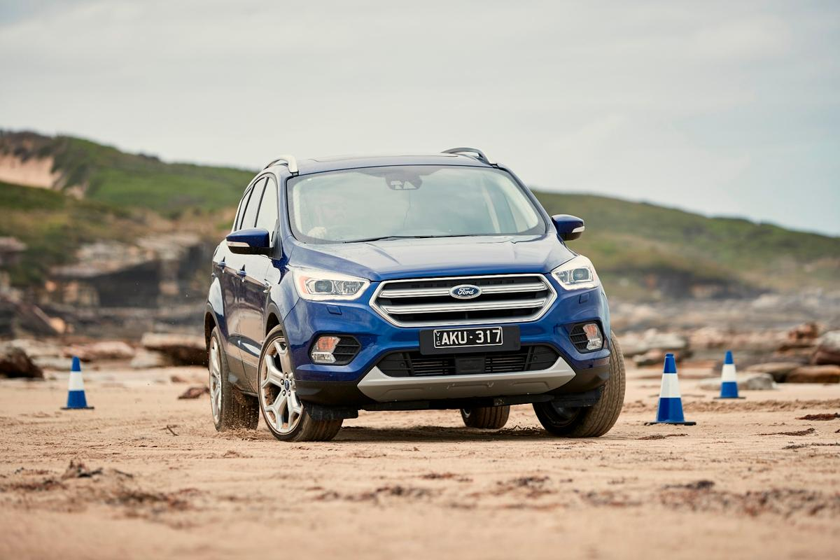 2017 Ford Escape: fun on the beach, although most will never go there