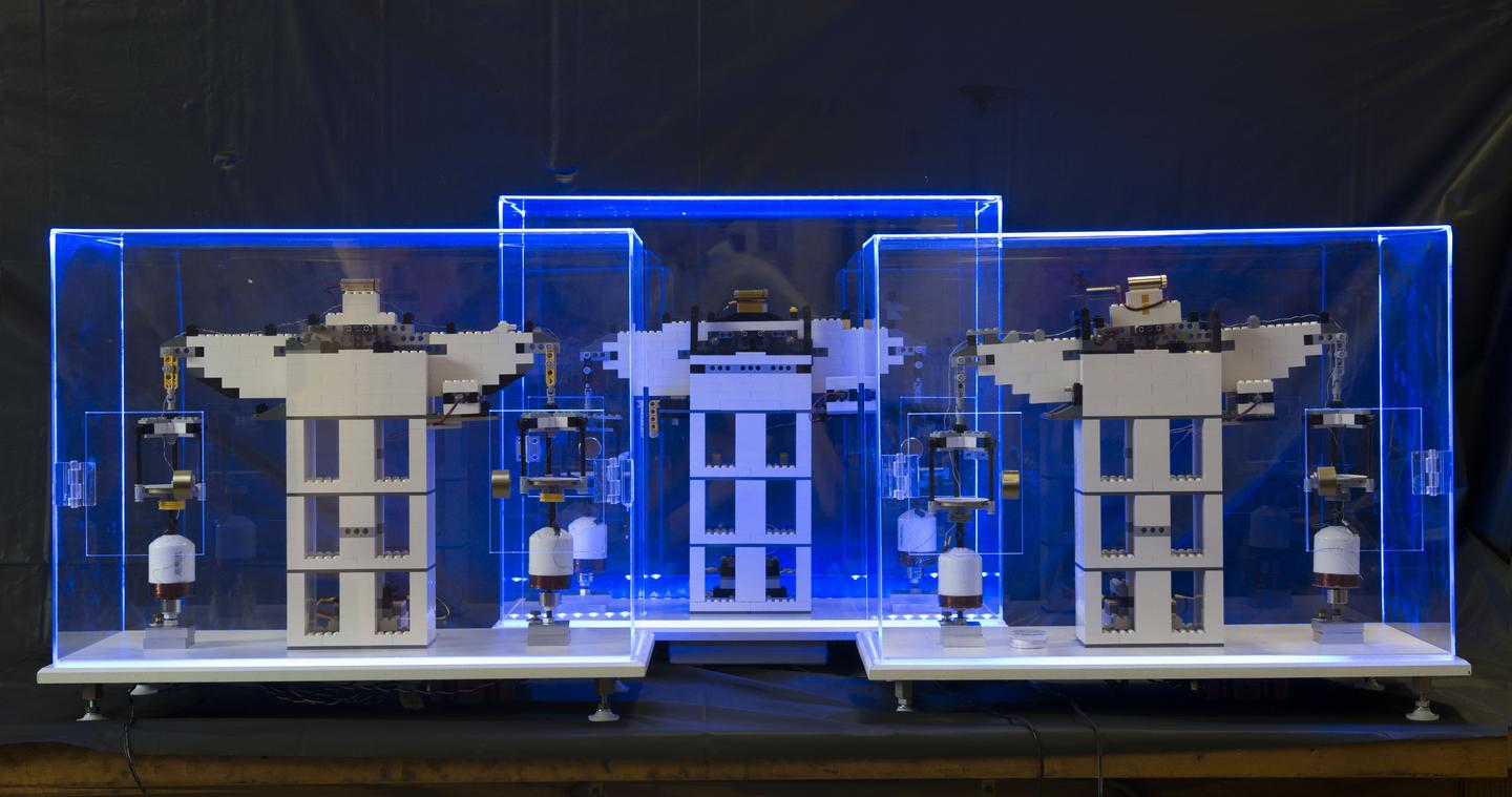 Engineers have designed an experiment that uses Lego blocks to determine a fundamental atomic constant (Photo: Xiang (Shawn) Zhang/NIST)