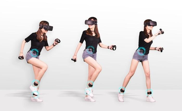 Kat Loco is a set of motion sensors for VR that translate walking on the spot into movements in the game