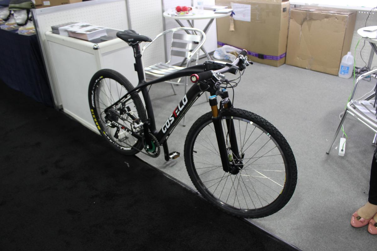 The Cotlo Corvus smart bike, on display at Interbike 2015