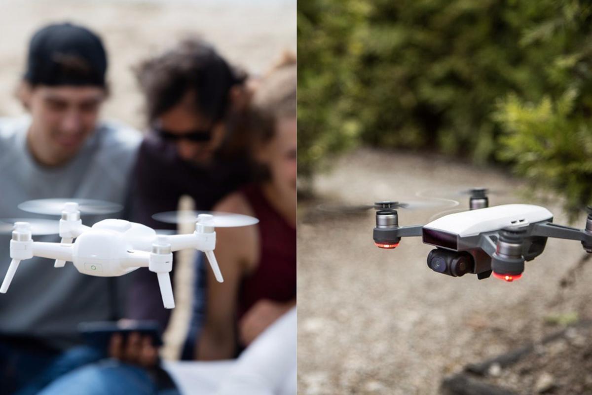 It's a mini-drone face-off:DJISpark vs. Yuneec Breeze