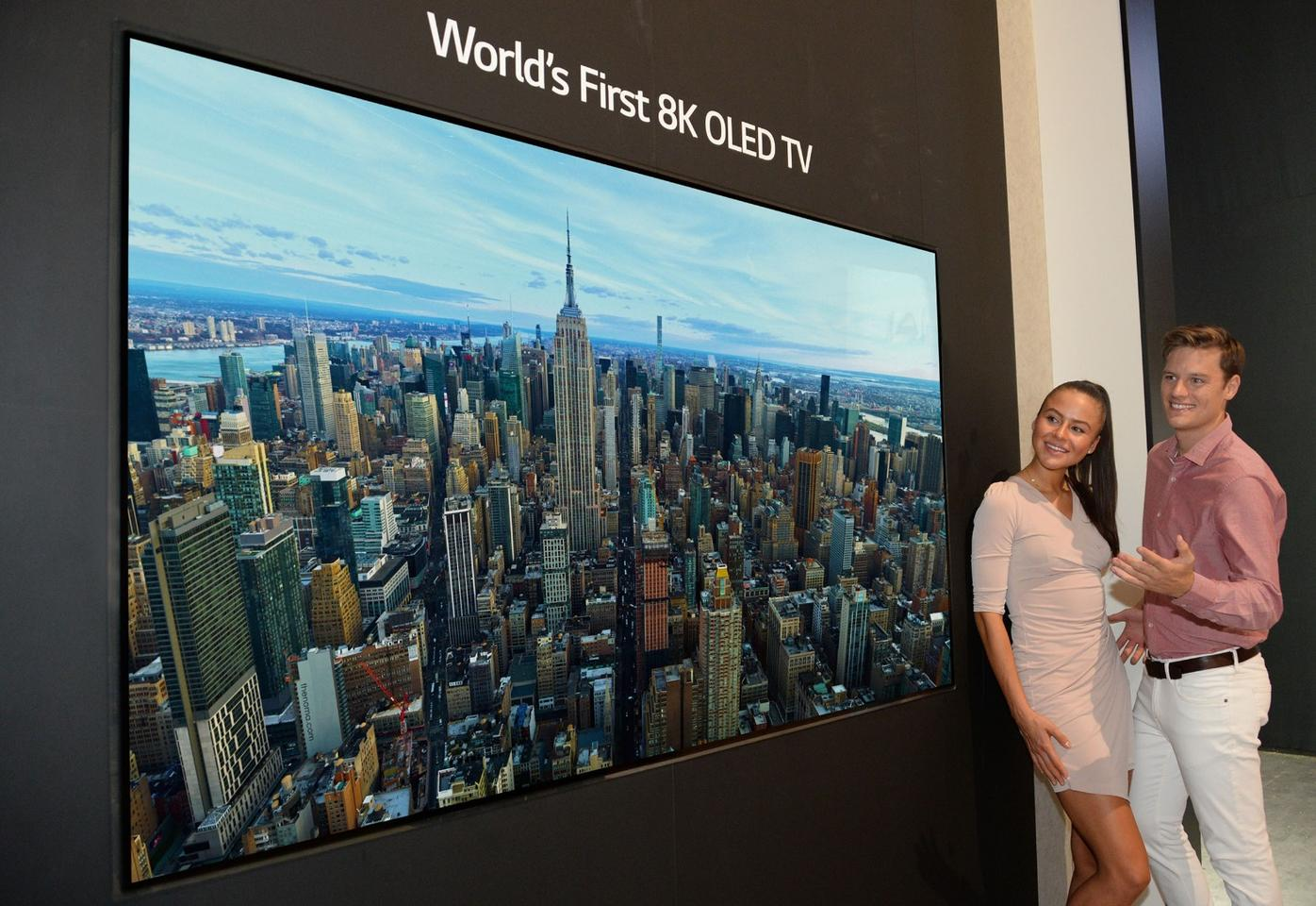 LG has confirmed its intention to become the first to mass produce large screen OLED TVs, like this 88-inch 8K behemoth