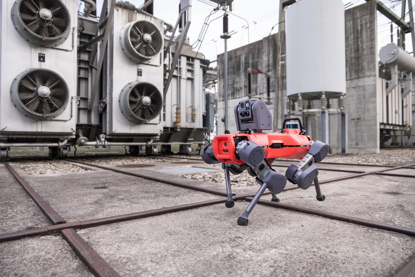 The ANYmal D walking robot can make its way around an industrial facility to make sure that equipment is running as it should