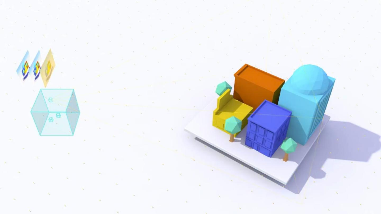 In Google's video, it appears that the user could only interact with the cube-shaped area on the left – the rest is just background