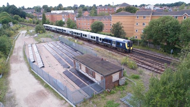 The demonstrator project has been installed near railway tracks in Aldershot