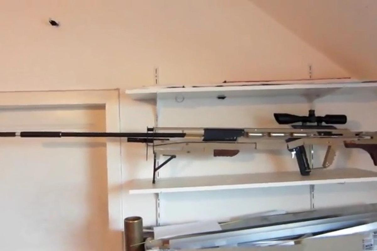Patrick Priebe's tack-shooting rifle