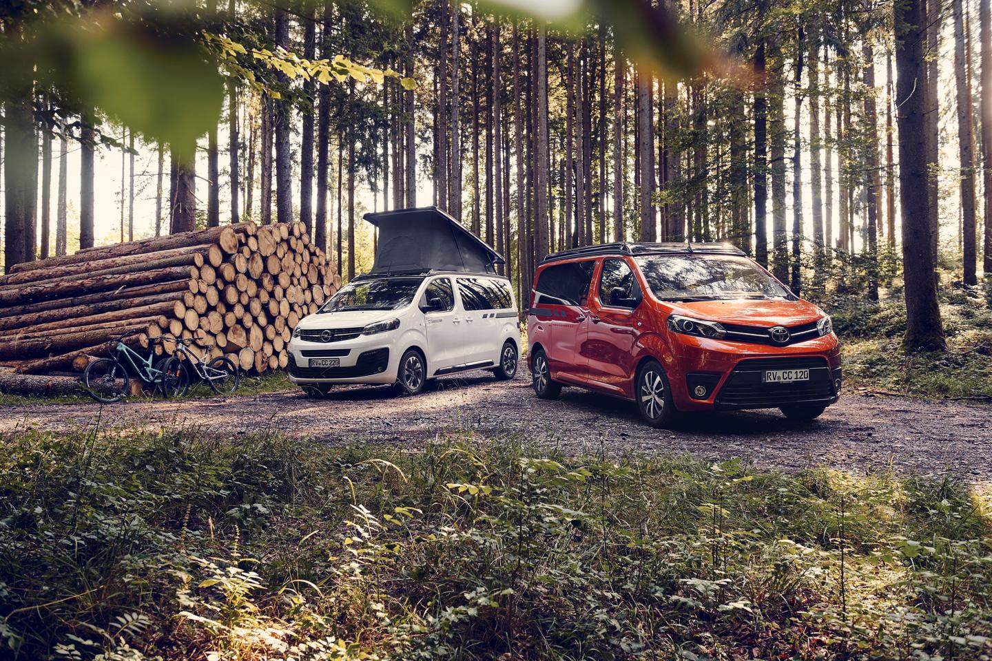 The new Crosscamp Lite comes built on sibling vans: the Toyota Proace Verso and Opel Zafira Life