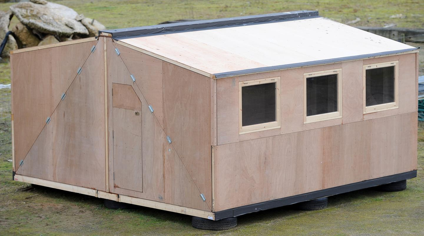 The Hush2 shelter is designed for use in disaster relief areas and can withstand category 5 hurricanes