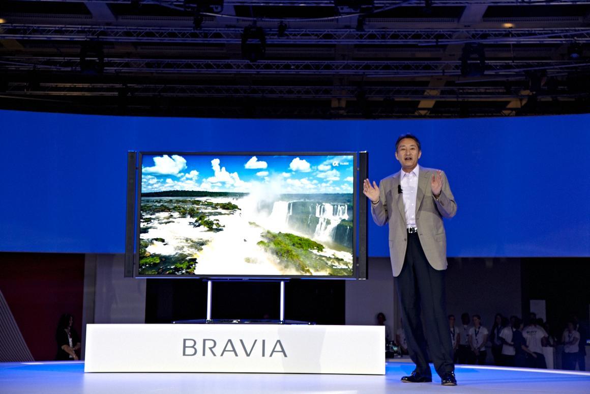 Sony's 4K resolution, 84-inch KD-84X9005 BRAVIA LCD TV