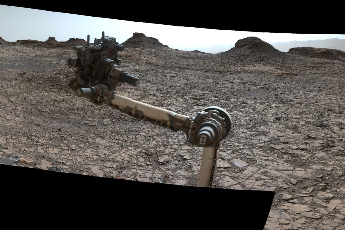 Part of the 360 image captured by Curiosity's Mastcam earlier this month