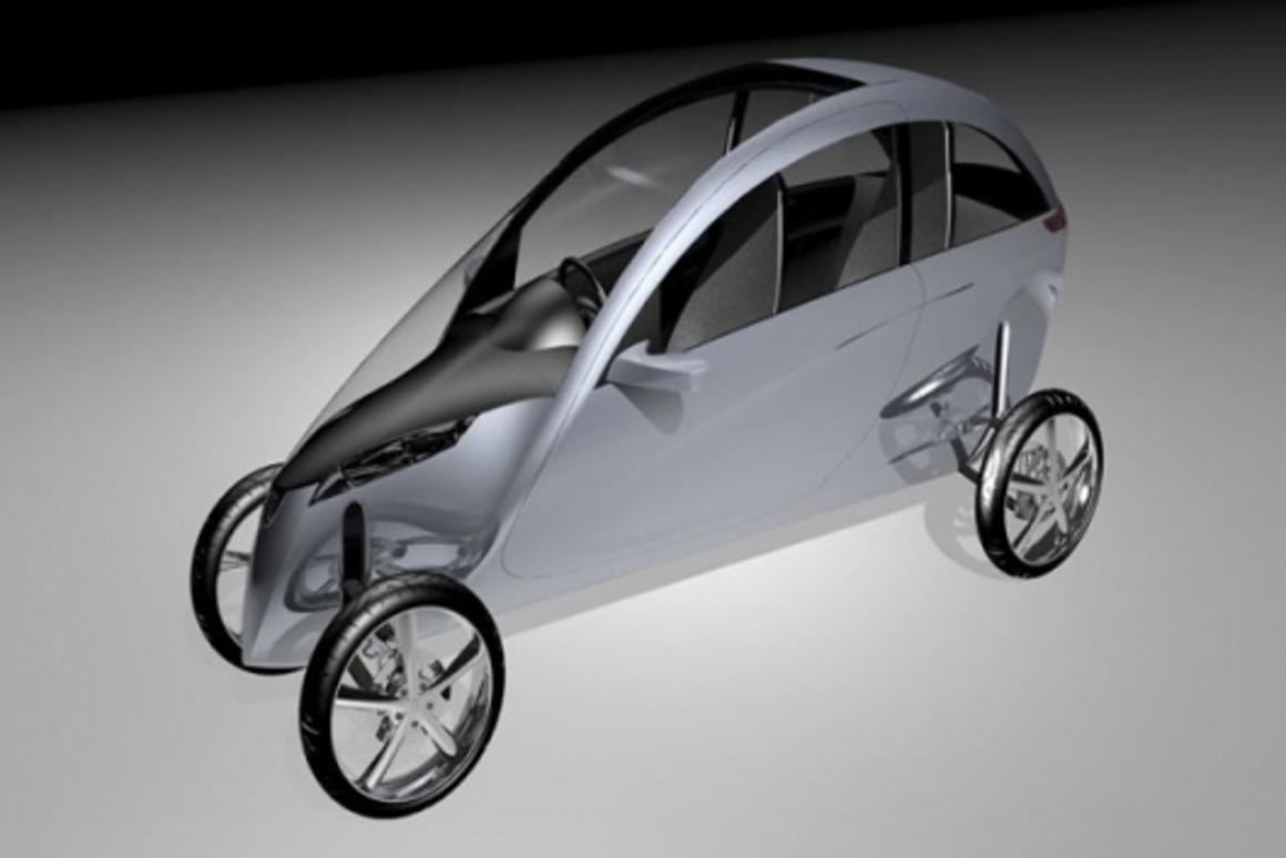 The TVA Gazelle tilting 4-wheeler concept