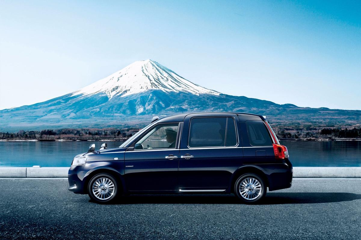 The Toyota JPN Taxis a natural gas-electric hybrid, designed to cut down smog in the Tokyo region